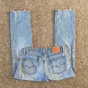 Levi's 514 Straight Leg Distressed Jeans 33x32